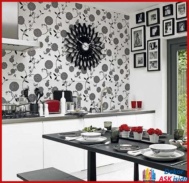 Mutfak Duvar Kağıtları İle Şık Mutfaklar