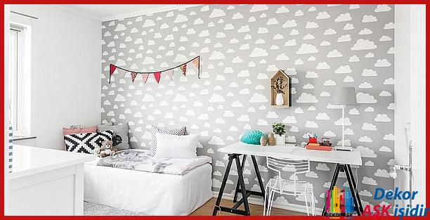 Çocuk Odası Dekorasyonunda Yeni Moda Duvar Kağıtları