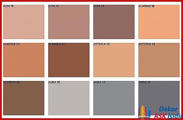 Fawori Boya Dış Cephe Renk Kartelasından En Güzel Duvar Renkleri